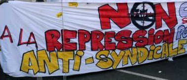 répression anti-syndicale